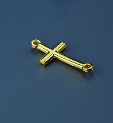 Μεταλλικός σταυρός χρυσαφί 25x15mm 50τεμ