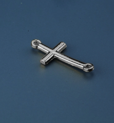 Μεταλλικός σταυρός ασημί 25x15mm 50τεμ