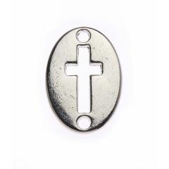 Μεταλλικός σταυρός ασημένιος 2x1εκ 50τεμ