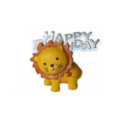 Διακοσμητικό τούρτας λιοντάρι και Happy Birthday
