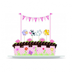 Σετ Διακόσμησης Τούρτας 1st Birthday Girl