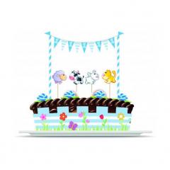 Σετ Διακόσμησης Τούρτας 1st Birthday Boy