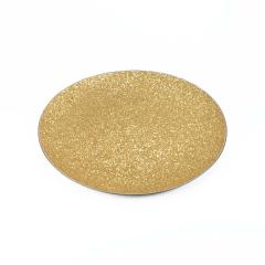Διακοσμητικός δίσκος χρυσός με γκλίτερ 40εκ