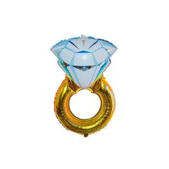 Χρυσό Δαχτυλίδι Μονόπετρο Foil Μπαλόνι 97εκ
