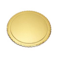 Χάρτινος δίσκος τούρτας χρυσός 30εκ