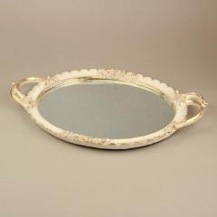 Δίσκος γάμου γύψινος με καθρέφτη