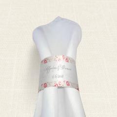 Δαχτυλίδι Πετσέτας Γάμου MyMastoras Roses Border
