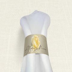 Δαχτυλίδι Πετσέτας Γάμου MyMastoras Yellow Roses