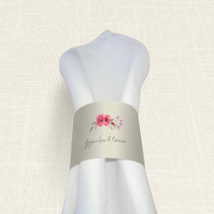 Δαχτυλίδι Πετσέτας Γάμου MyMastoras Watercolor Roses