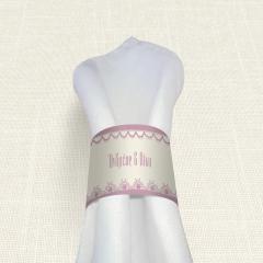 Δαχτυλίδι Πετσέτας Γάμου MyMastoras Lace edge