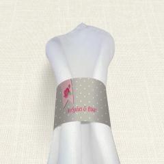 Δαχτυλίδι Πετσέτας Γάμου MyMastoras Ribbon Roses