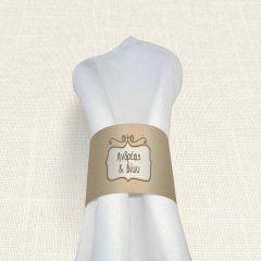 Δαχτυλίδι Πετσέτας Γάμου MyMastoras Brown Polka Dots