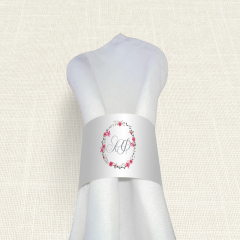 Δαχτυλίδι Πετσέτας Γάμου MyMastoras Circles Flowers