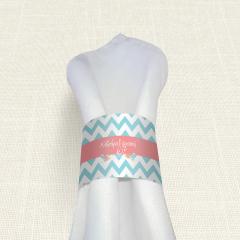 Δαχτυλίδι Πετσέτας Γάμου MyMastoras Blue ZigZag