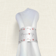 Δαχτυλίδι Πετσέτας Γάμου MyMastoras Dots Flowers