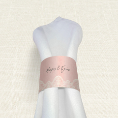 Δαχτυλίδι Πετσέτας Γάμου MyMastoras Lace