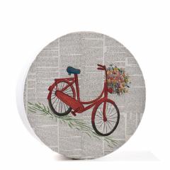 Κουτί βάπτισης χάρτινο με θέμα ποδήλατο