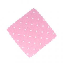 Πανάκια ροζ πουά τετράγωνα 12 5*12 5εκ./50τεμ.