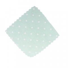 Πανάκια βεραμάν πουά τετράγωνα 12 5*12 5εκ./50τεμ.