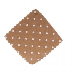 Πανάκια μπεζ πουά τετράγωνα 12 5*12 5εκ./50τεμ.