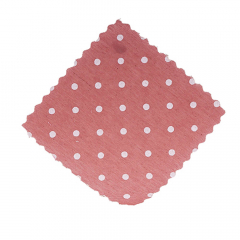 Πανάκια σάπιο μήλο πουά τετράγωνα 12 5*12 5εκ./50τεμ.