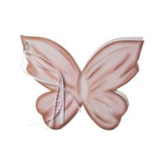 Βιβλίο ευχών ξύλινη πεταλούδα