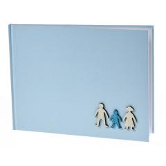Βιβλίο ευχών οικογένεια με στρας σιέλ