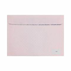 Ροζ με εσωτερικό πουά και κλείσιμο καρέ 120gr 10τμχ