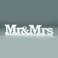 Διακοσμητικό γάμου Mr&Mrs 77x17εκ