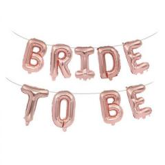 Μπαλόνια φράση Bride To Be ροζ χρυσό 9τεμ.
