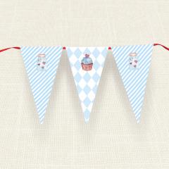Σημαιάκια MyMastoras Blue Cupcake