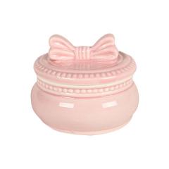 Φοντανιέρα κεραμική με φιόγκο ροζ