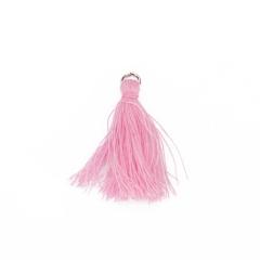 Βαμβακερό φουντάκι ροζ ανοιχτό 3εκ 10τεμ