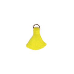 Βαμβακερό φουντάκι κίτρινο 15mm 10τεμ
