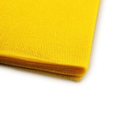Γάζα βαμβακερή κομμένη τετράγωνη κίτρινη 48x48