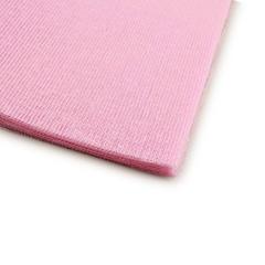 Γάζα βαμβακερή κομμένη τετράγωνη ροζ 36x36