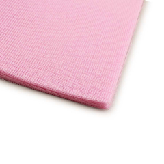 Γάζα βαμβακερή κομμένη τετράγωνη ροζ 48x48