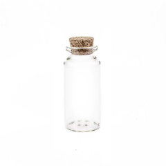 Γυάλινο μπουκαλάκι με φελλό 7x3εκ 5τεμ