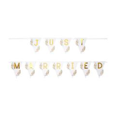 Γιρλάντα γάμου Just Married χρυσή 1μ