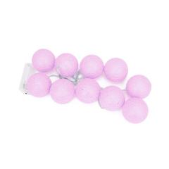 Γιρλάντα φωτάκια μπάλες ροζ 2m
