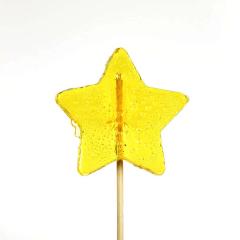 Γλειφιτζούρι με σχήμα αστέρι κίτρινο 30gr