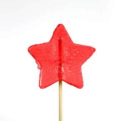 Γλειφιτζούρι με σχήμα αστέρι κόκκινο 30gr