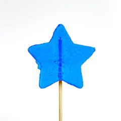 Γλειφιτζούρι με σχήμα αστέρι μπλε 30gr