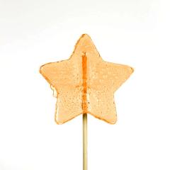 Γλειφιτζούρι με σχήμα αστέρι πορτοκαλί 30gr