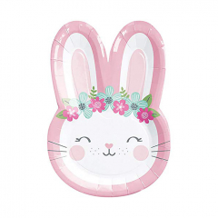Χάρτινα πιάτα φαγητού Birthday Bunny 8τεμ