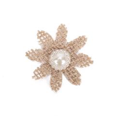 Λουλούδι λινάτσα με πέρλα 4εκ 9τεμ