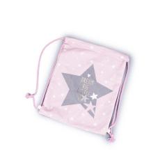 Βελούδινο σακίδιο πλάτης αστλερι ροζ 25x30