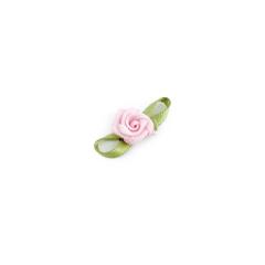 Λουλουδάκι σατέν ροζ 25mm 50τεμ
