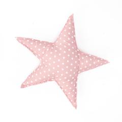 Υφασμάτινο μαξιλαράκι αστέρι ροζ 38x38εκ