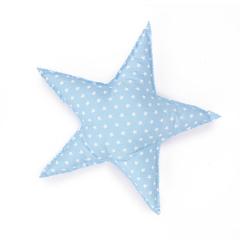 Υφασμάτινο μαξιλαράκι αστέρι σιέλ 38x38εκ